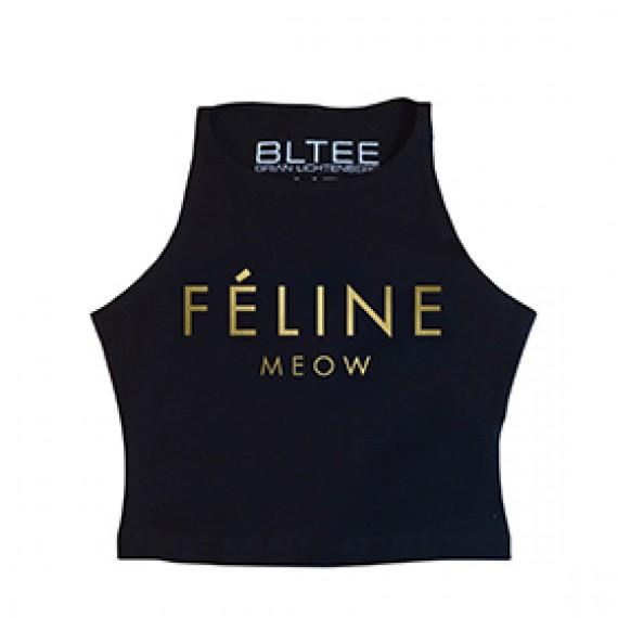 Feline crop cat tops | Meowingtons
