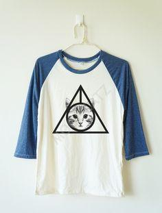 Deathly Hallows Cat Tee | Meowingtons